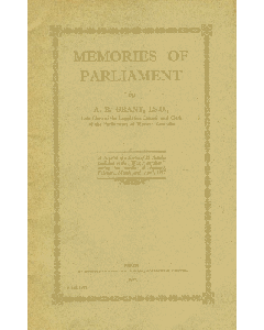 Memories Of Parliament Pamphlet