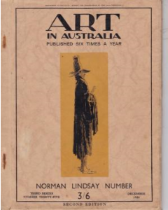 Art in Australia: Norman Lindsay Number, Third Series, Number 35