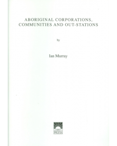 Cover of Aboriginal Corporations, Communities and Outstations