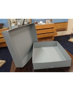 Box, Polypropylene, A2 610x440x100mm, Separate Base & Lid