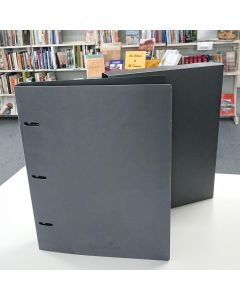 Binder with Slip Cover, Polypropylene, A3 40mm, Charcoal