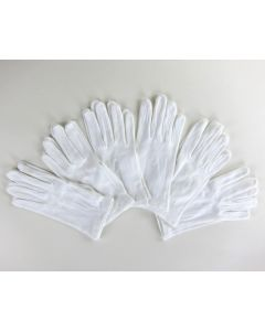 Gloves, cotton, white, per pair